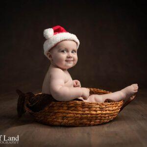 Christmas Baby Portrait, Photographer. Stratford upon Avon, Warwickshire
