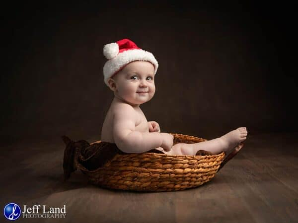 Christmas Baby Portrait, Photographer. Stratford upon Avon, Warwickshire